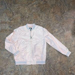 Starter black label varsity jacket pink rare